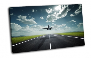 Самолет взлетная полоса
