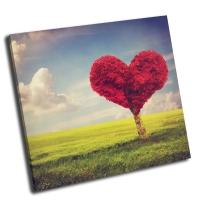 Сердце из красного дерева