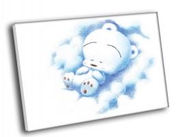 Спящий белый мишка