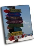 Указатель городов на пляже