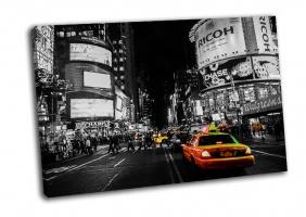 В Нью-Йорке желтые такси