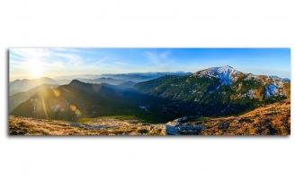 Великолепная панорама восход в горох
