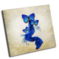 Винтажный фон с бабочками