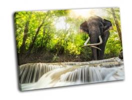 Водопад Эраван и слон