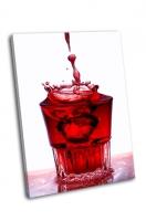 Всплеск воды в стакане