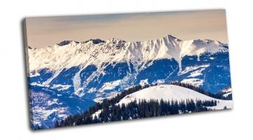 Зимний пейзаж и голубое небо, Австрия