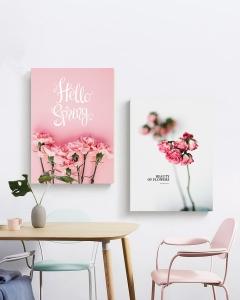 """Комплект картин """"Розовые цветы"""""""