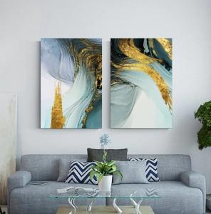"""Комплект картин """"Абстрактные волны"""""""