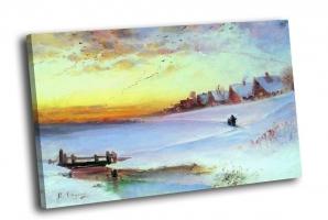 А. Саврасов - Зимний пейзаж (Оттепель)