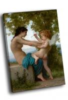 Адольф Уильям Бугро - Девушка и Купидон (1880)