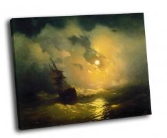 И. Айвазовский - Буря на море ночью