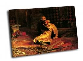 И. Репин - Иван Грозный и его сын Иван 16 ноября 1581 года