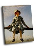 И. Репин - Стрекоза (Портрет дочери художника)