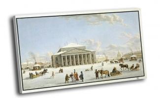 Лори, Габриэль Матиас - Вид Большого театра в Санкт-Петербурге