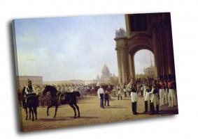 Парад на Дворцовой площади в Санкт-Петербурге