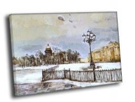 Петербург зима маслом