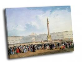 В. С. Садовников - Вид Дворцовой площади и здания Главного штаба в Санкт-Петербурге
