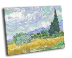 Ван Гог - Пшеничное поле с кипарисами