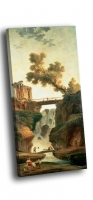 Юбер, Робер - Пейзаж с водопадом