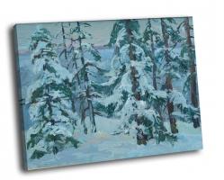 Зимний лес (масло)