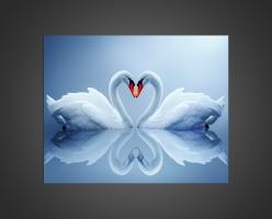 Сердце из лебедей