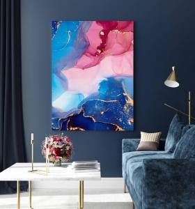 Сине-розовая абстракция
