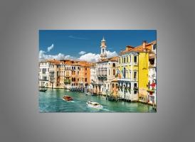 Вид на Гранд-канал с лодка, Италия