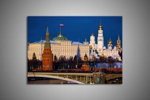 Вид на Кремль с моста, Москва
