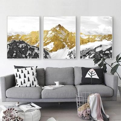 """Модульная картина """"Снежные горы"""""""