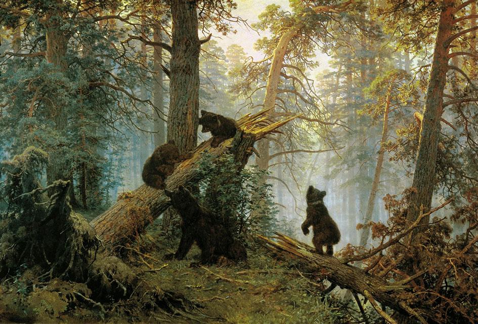 reprodukciya-kartiny-shishkina-utro-v-sosnovom-lesu-boru-3-medvedya О современном авангардном искусстве